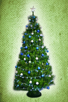 Blue Decorated Tree